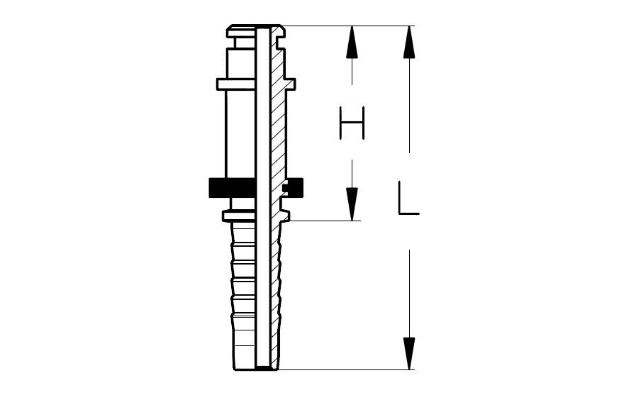 Фитинг DKF-W штуцер для пистолета