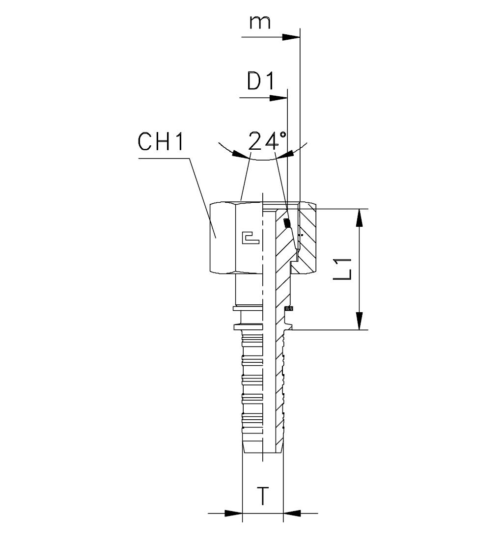 Фитинги DKO-L и DKO-S, гайка (внутренняя резьба)