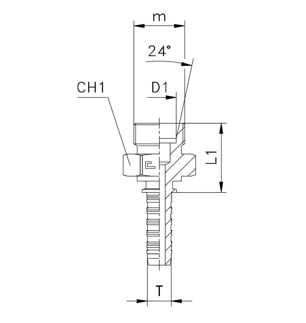 Фитинги DKO-L и DKO-S, штуцеры (наружняя резьба)
