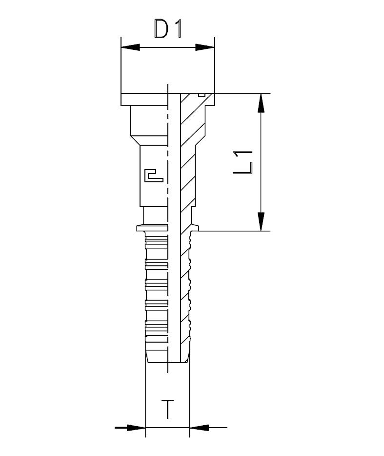 Фланец SFL, прямой