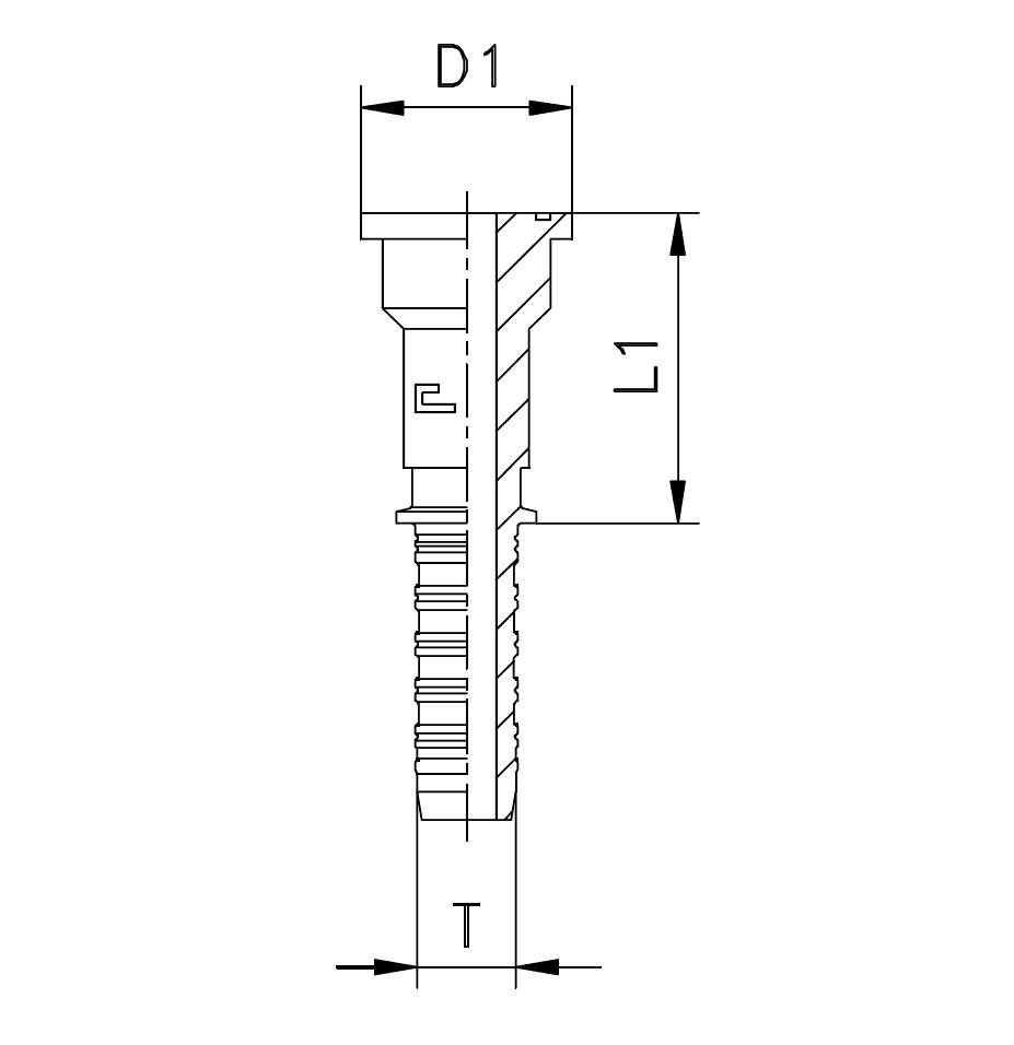 Фланец SFS, прямой